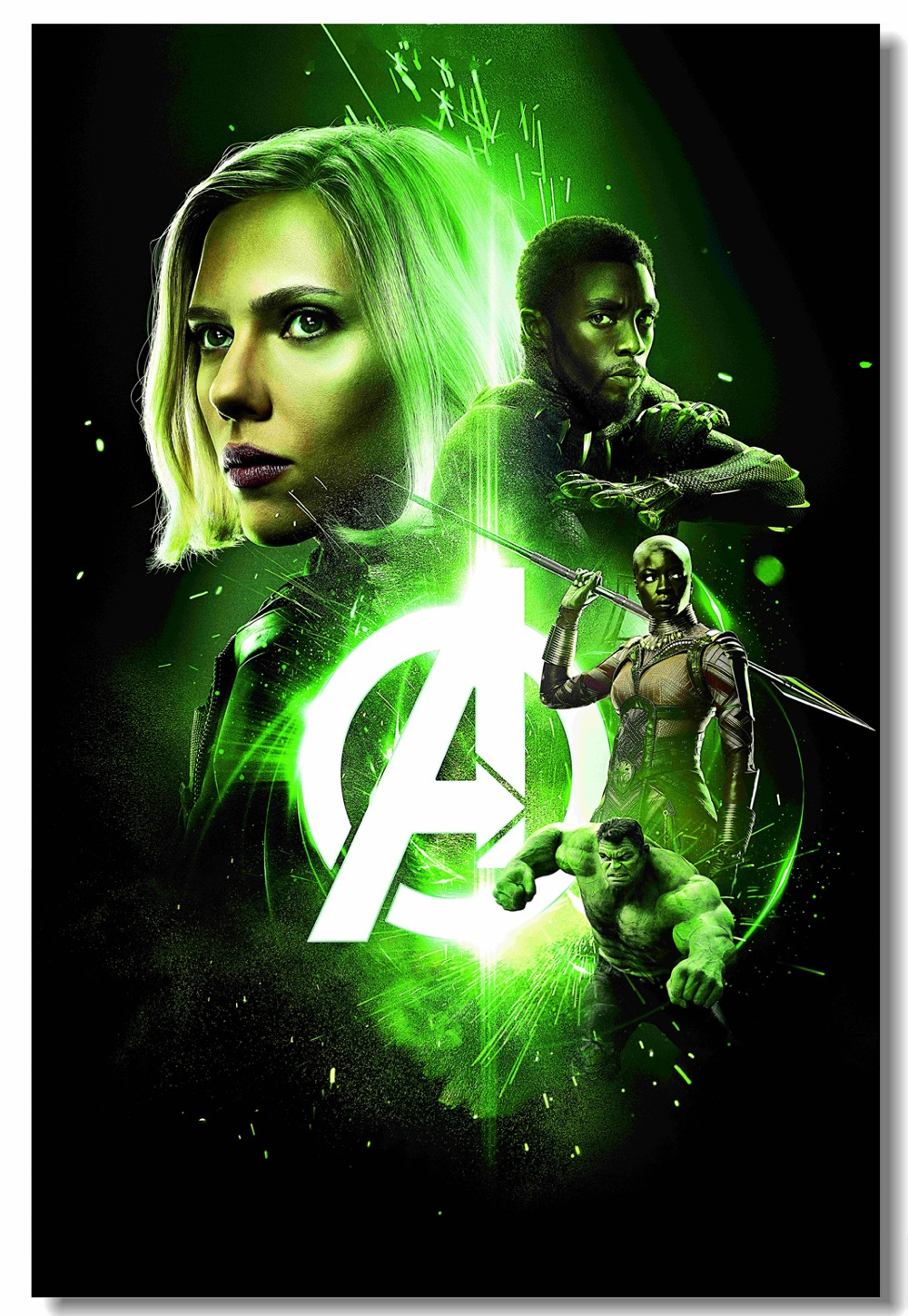 Us 5 99 25 Off Custom Canvas Wall Decal Avengers Infinity War Poster Black Widow Hulk Wall Sticker Black Panther Thor Star Lord Wallpaper 0329 In