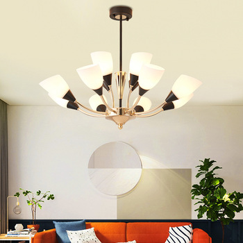 מודרני LED נברשות מדינה אמריקנית סגנון תליית אורות נורדי מסעדת מנורות סלון תאורת בר קפה גופי