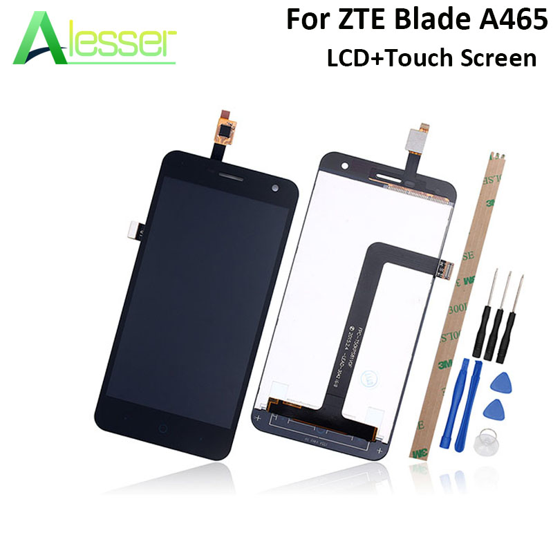 Alesser For ZTE Blade A465 LCD Display And Touch Screen 5.0 Screen Digitizer Assembly Replacement For ZTE Blade A465 With ToolsAlesser For ZTE Blade A465 LCD Display And Touch Screen 5.0 Screen Digitizer Assembly Replacement For ZTE Blade A465 With Tools
