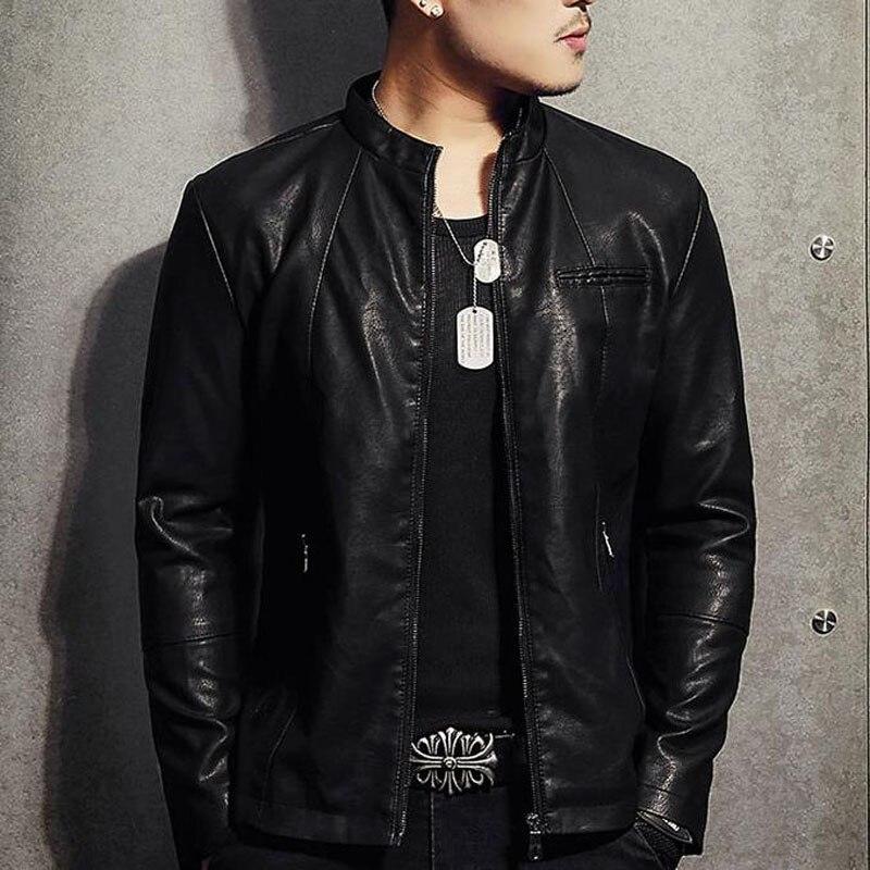 Men Genuine Leather Jacket Zipper Pockets 2020 New Autumn Slim Short Male Moto Cow Leather Jacket Biker Teenage Boy Spring
