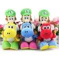 6 Шт./лот Super Mario Bros Плюшевые 18 см 6 цветов Марио Езда Йоши Плюшевые Куклы Луиджи Езда Йоши Плюшевые Игрушки