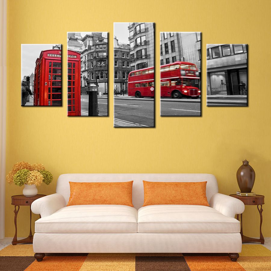 Gift Black & White Canvas Print Wall Art Painting Home Decor London ...