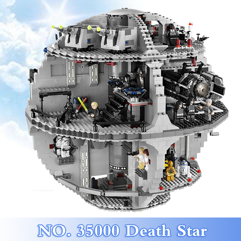 2018 New Star War Series 3803Pcs Death Star Figures Building Blocks Bricks Set Toy For Children Gift Model Kits Compatible 10188 clone 10188 dhl lepin 05035 3803pcs star model death star model building kit set blocks bricks children toy gift