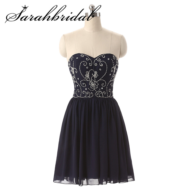 Sweetheart Cocktail Gown 2019 Formal Short At Night Beaded Homecoming Gowns Graduation Dresses SD130
