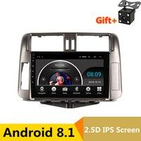 9 2.5D ips Android 8,1 автомобиля DVD gps для Toyota Prado 150 Land cruiser 2010 2011 2012 2013 аудио на голову Радио стерео навигации