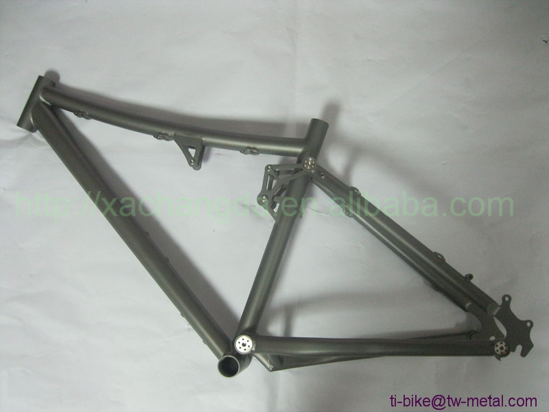 Bike-Frame Suspension Titanium Custom XACD Sand-Blasting