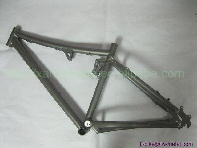Titanium Sand Blasting Full Suspension Bike Frame Custom Titanium ...