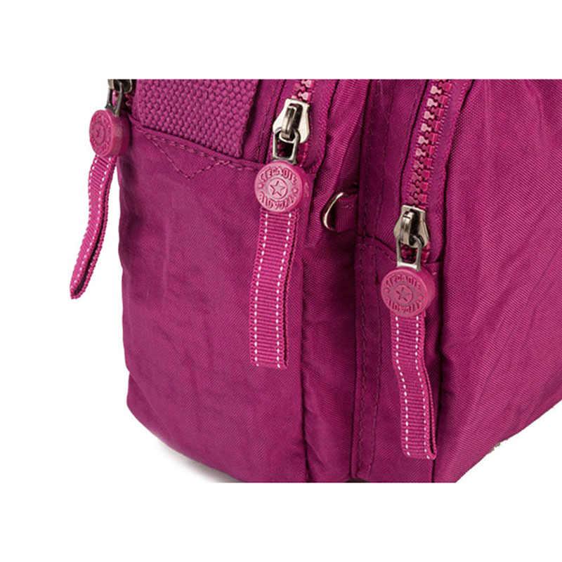 TEGAOTE Wome сумки на плечо маленький женский кошелек Роскошный дизайнерский лоскут бренд мини однотонная пляжная сумка-Кроссбоди Bolso Mujer нейлон 2020