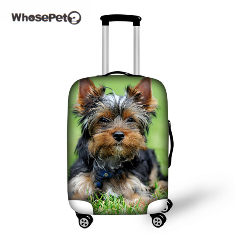 WHOSEPET Travel Puppy Luggage Cover Dog Elastic Baby Suitcase Protective animal Cover Case Travel <font><b>Accessories</b></font> Christmas Custom