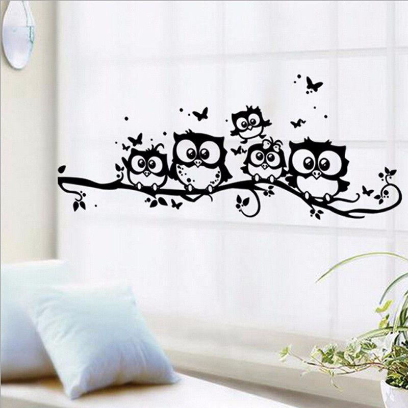 Buy Cartoon Tree Owls Wall Stickers