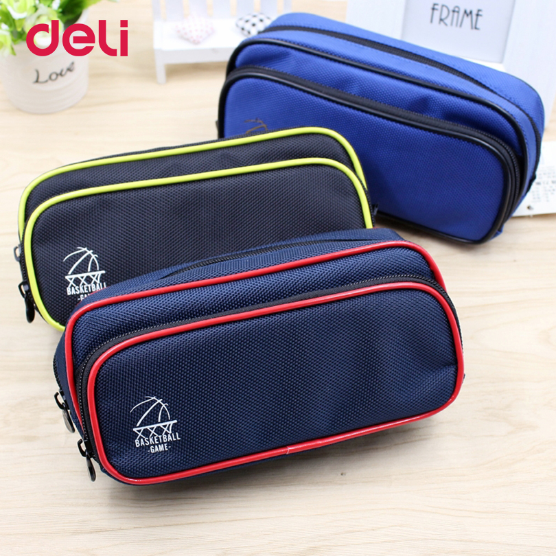 Deli 2017 new School Office stationery Pencil Case Bags for Students Children 3 colors Pencil Bag case boy Kids Gift pencil case pencil shaped pencil case