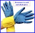 2016 nuevos productos químicos y trabajo guantes ansell guantes para dante de cloro líquido de laboratorio médico guantes de látex de color