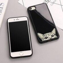 Luxury Simple Cat dog Figure Cases For Iphone 8 8plus