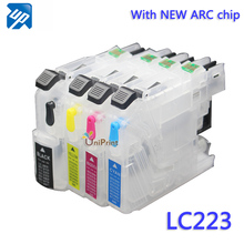 LC223 lc225 refillable ink cartridge for brother J562DW J480DW J680DW J880DW 4120DW J4420DW J4620 J4625DW printer with ARC chip(China (Mainland))