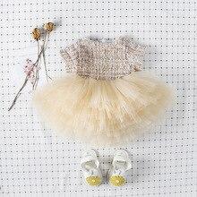 Jesień maluchy dzieci księżniczka Tutu sukienka niemowlęta ubrania Patchwork pałac Party suknia balowa dziewczynek urodziny suknie ślubne