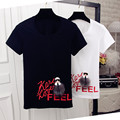 Korean Summer New Fashion Letter Printed Women T shirt Catoon Patchwork Short Sleeve T-shirts Plus Size O-neck Tops 63323