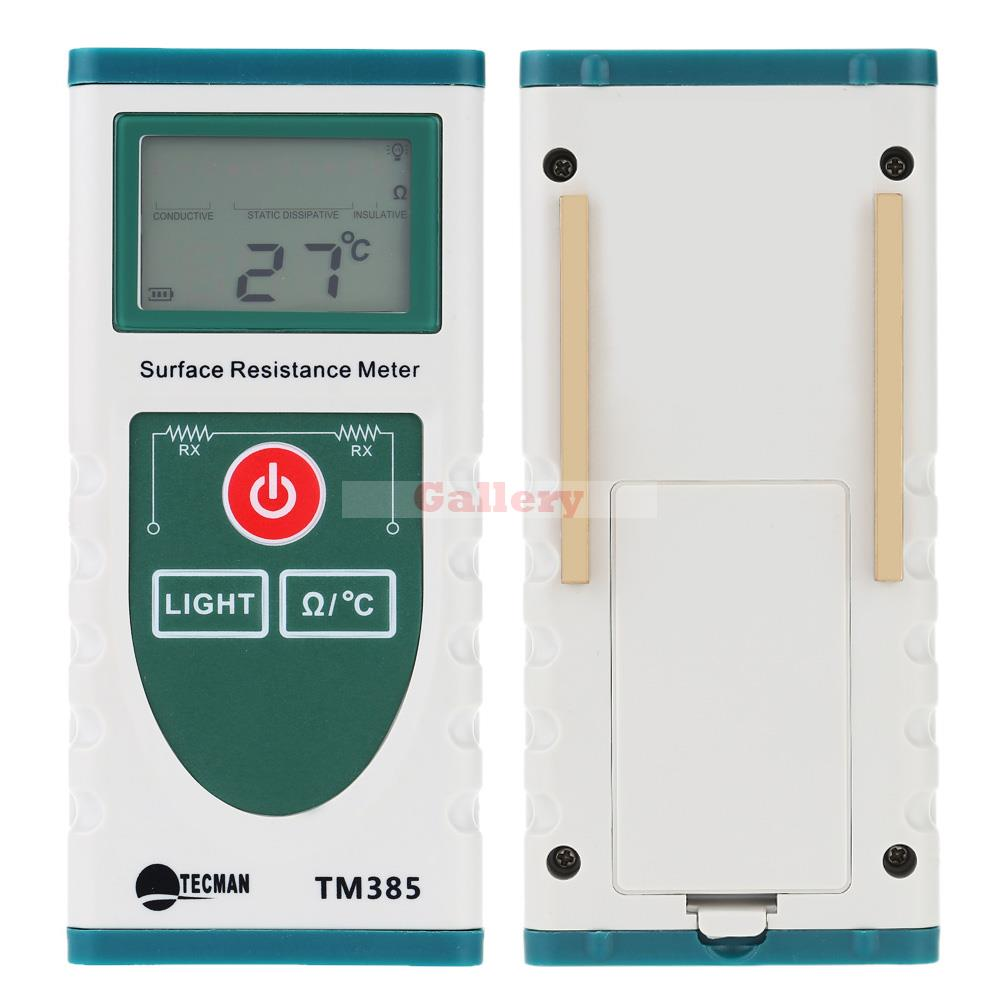 Electrical Resistance Meter : Handheld surface resistance meter with lcd display