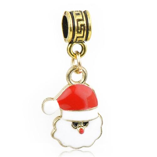 Макси маленькое Рождественское дерево костыль колокольчик Санта Клаус подвески-шармы Pandora Браслеты и браслеты для женщин DIY для украшения подарка - Цвет: Style 8