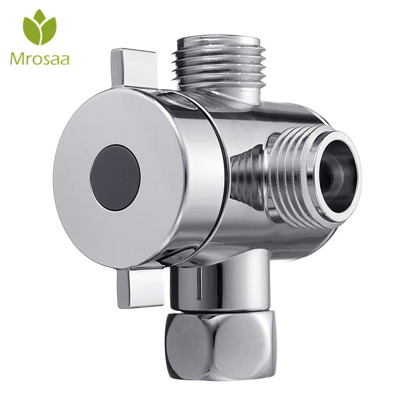 Multifunction 3 Way Shower Head Diverter Valve G1/2 Three Function Switch Adapter Connector T-adapter For Toilet Bidet Shower