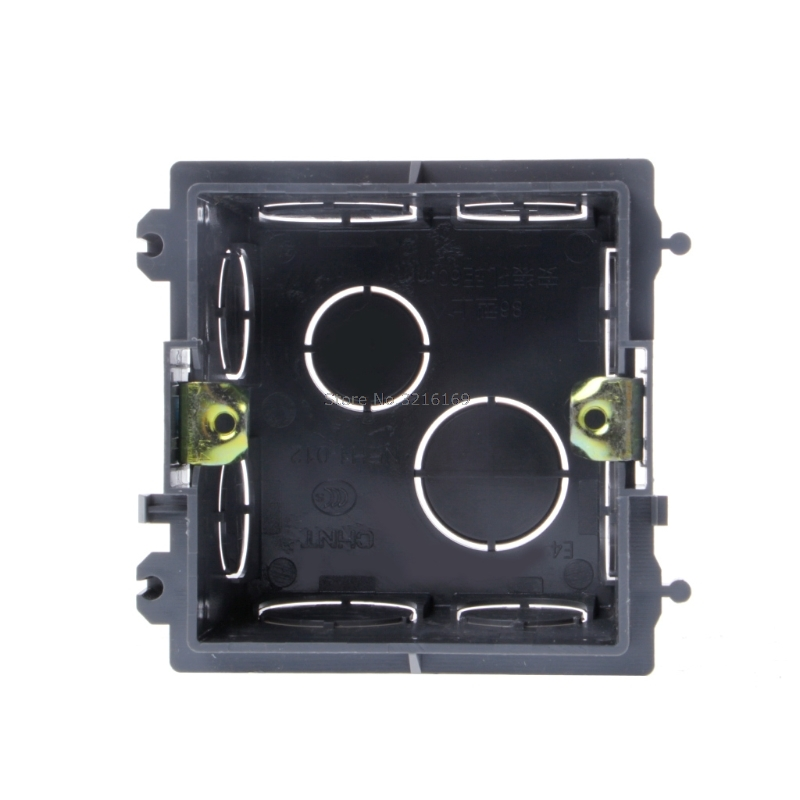 For 1pc 86 Type Pvc Junction Box Wall Mount Cassette For