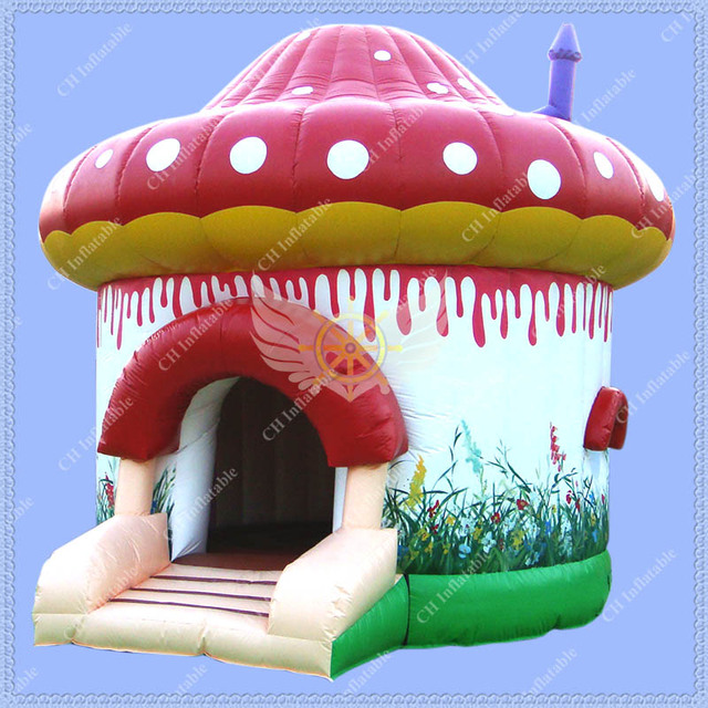 New Design 14.8ft/4.5m Inflatable Bounce House,Commercial Use Bouncy Castle,Mushroom Jumping Castle for Rental