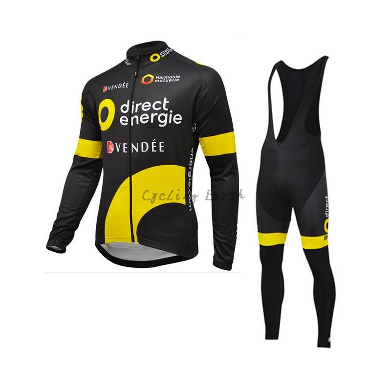 2016 pro tour team Direct Energie cycling jerseys long sleeve Spring Sunscreen thin bike cloth MTB Ropa Ciclismo Bicycle maillot polyester summer breathable cycling jerseys pro team italia short sleeve bike clothing mtb ropa ciclismo bicycle maillot gel pad