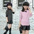 2017 New Autumn Winter Baby Girls Sweater Striped Kids Clothes Children Sweater Warm for Girls Knitwear Fashion Style