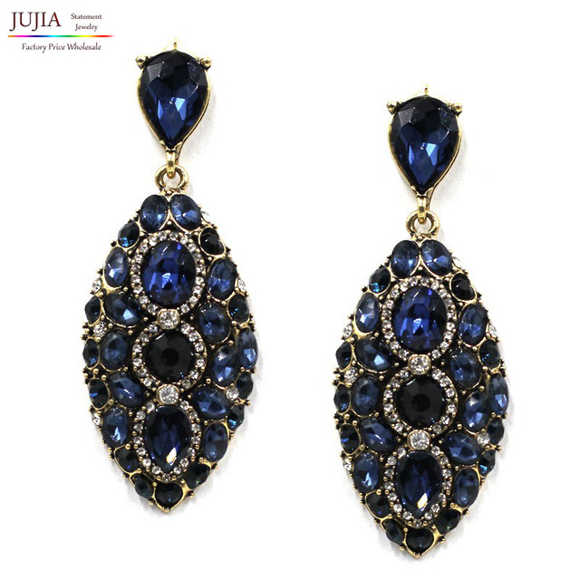 Good Quality Earring New 3 Colors Whole Fashion Jewelry Women Crystal Vintage Statement Bib Stud Earrings