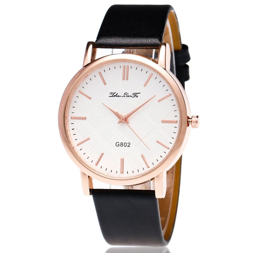 69a7ff0d7cb4b Moda Casual Mulheres Relógios Simples Hora Pulseira de Couro Relógio de  Quartzo Presentes Relógio de Pulso Pulseira Relógios Para As Mulheres reloj  mujer