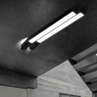 Простой белый/черный светодиодный потолочный светильник длинная полоса office светодиодные балкон коридор освещение спальни гостиной потоло