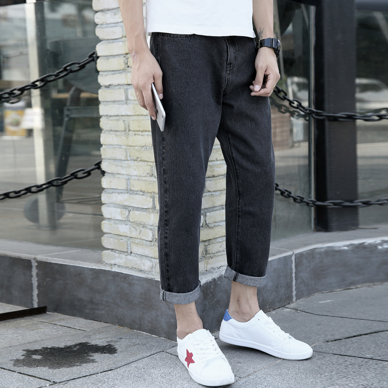 Brand 2019 New Men's Fashion Jeans Business Casual Stretch Slim Jeans Classic Trousers Denim Pants Male