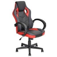 סגנון משחקי מירוץ EGGREE הכיסא משרדי מסתובב פונקצית ההטיה מתכוונן משענת כיסא מחשב בכיר FR בריטניה המניה