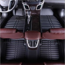 Leather car floor mats For Custom for Honda all models Accord Civic CRV 2010 2011 2012 2013 2014 2015
