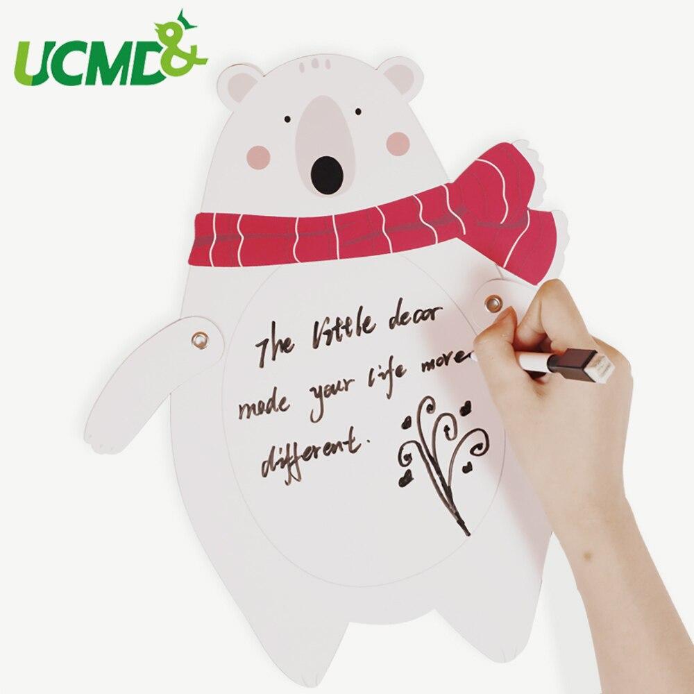 Magnético dos desenhos animados desenho brinquedo de escrita doodle pintura apagável esboço placa com caneta para geladeira educacional crianças presente brinquedo