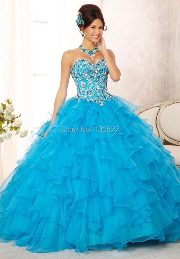 Top Buy Free Shipping Qd Latest Design Corset Puffy Skirt Purple Ball Gown Wedding Dresses Beading Prom Dress From With Blue And