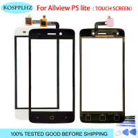 black/white 4.5 inch front outer glass For allview p5 lite Touch Screen Touch Panel Lens Replacement P 5 mobile phone +tools