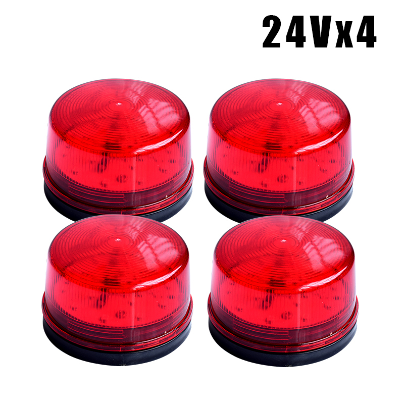 Red LED Flash Siren 12V Security Light Alarm Strobe Warning Alert Lamp Singal