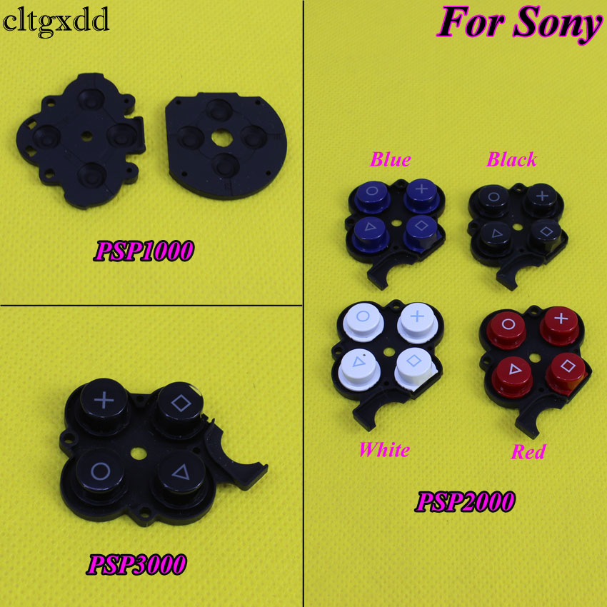 Cltgxdd Conductive Right Button Plastic Pads For Sony PSP2000 3000,Silicon Rubber Button Switch Conductive Pad For PSP 1000