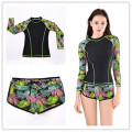 2016 Surf Rashguard Protection Surf Rash Guard Swimming Long Sleeve Swimsuit For Women shorts Swimwear Black hot Surf clothing