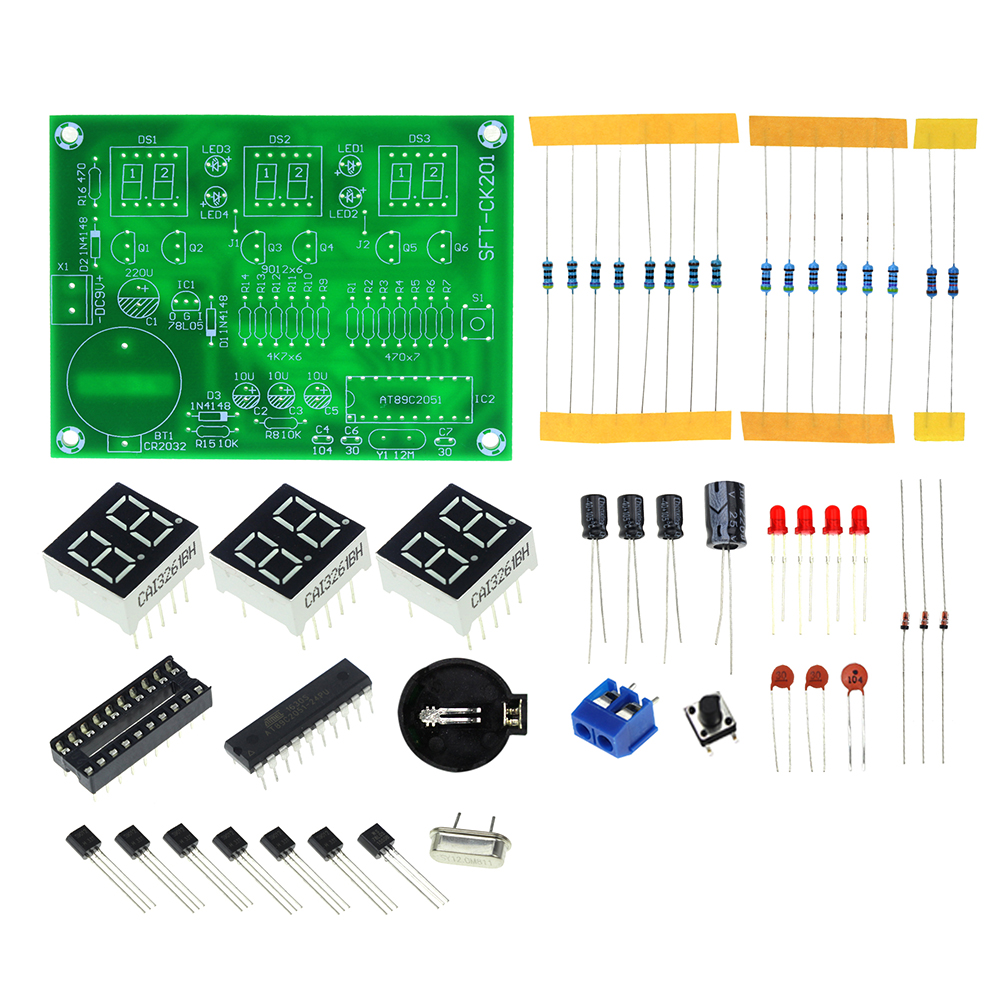 Three Dimensional 3d Christmas Tree Led Diy Kit Red Green Yellow Digital Clock Circuit Free Shipping Kits At89c2051 Electronic Tube Display Suite Module Priceusd 334