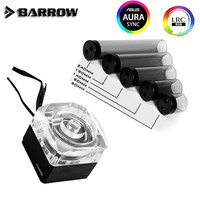 Barrow 17W DDC Pump Combo Unit PWM PUMP + Matte Black Reservoir Type LRC2.0 5V Mobo AURA SPB17 V2