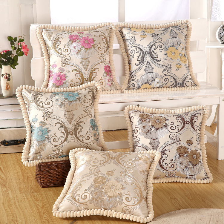 Luxury embroidery cushion home decor pillow pillowcase for How to decorate couch with pillows