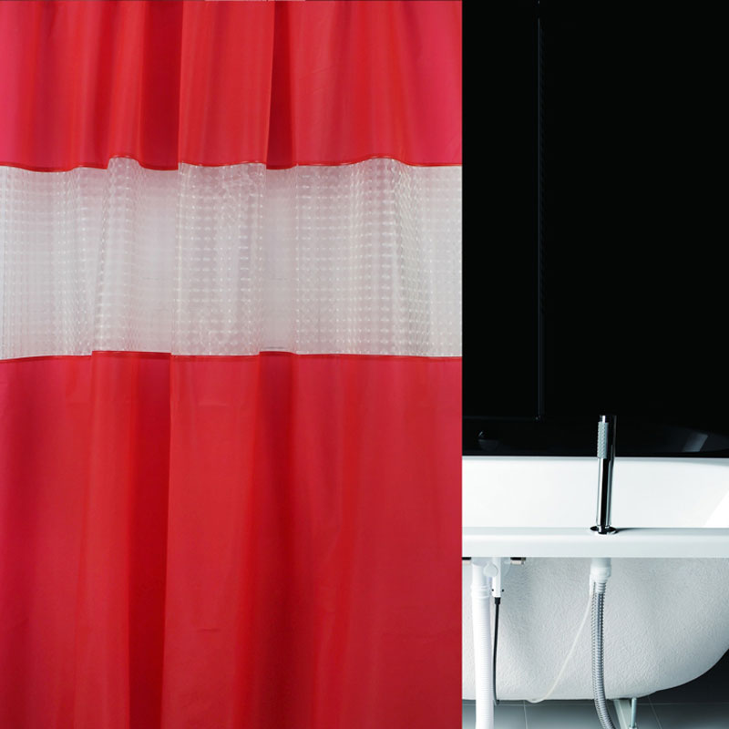 Thicker Shower Curtains EVA Translucent Plastic Bathroom Curtains ...