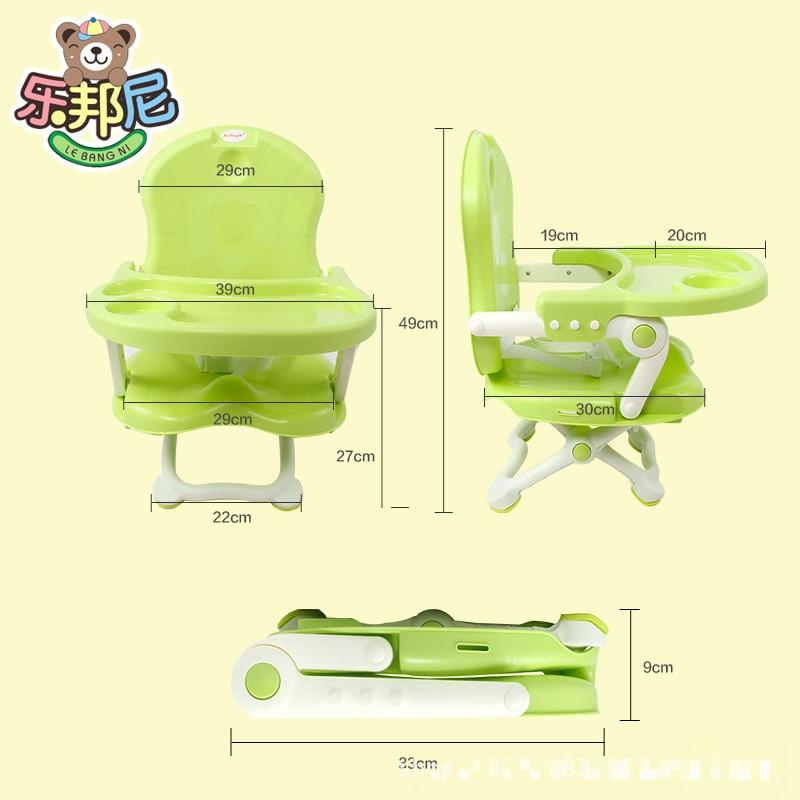 cadeira para bebe Seat Dining Highchair Seat  Suspender Cadeira De Bebe  Children Multifunctional Baby Chair Folding Chair trona de bebe silla comedor para ninos con bandeja ajustable plegable bb4544