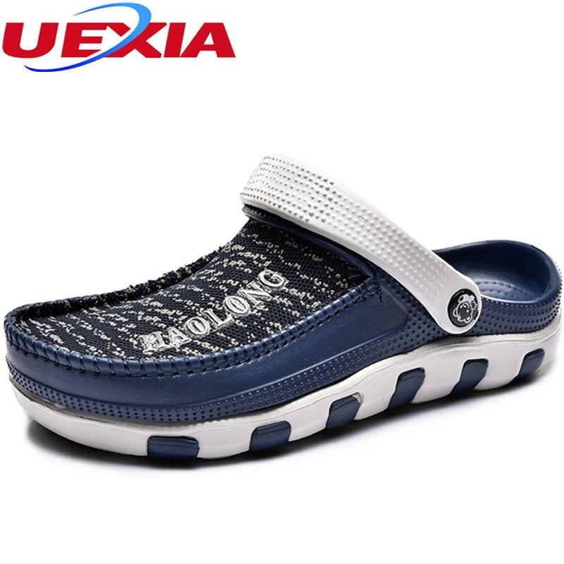 Men's Summer Shoes Sandals New Breathable Beach Flip Flops Mens Slippers Mesh Lighted Shoes Tongs Chancletas Sandalias Sandales цены онлайн