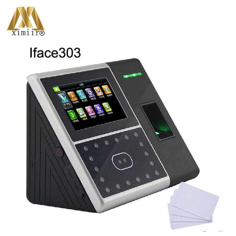 Iface303 Facial Time Recognition Time Clock Face&fingerprint&IC Card Time Attendance /access Control With ZKaccess3.5 Software