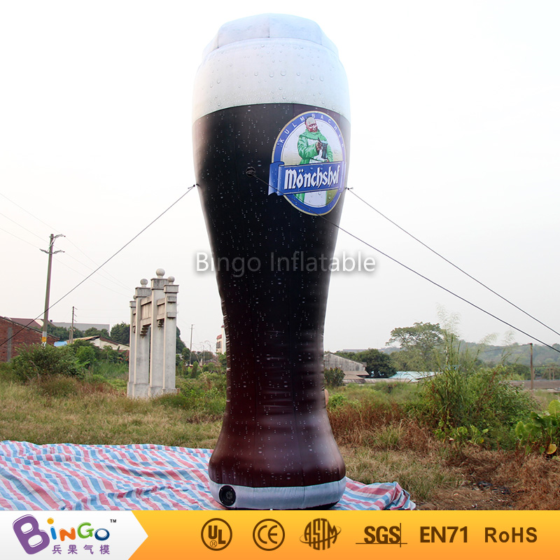 Bingo advertising 6m high inflatable beer glass cup with led lighting for Oktoberfest party Model Building Kits BG-A0657-2