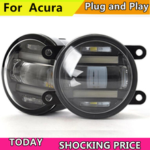 Car Styling for Acura TL RDX ILX LED Fog Light Auto Fog Lamp with LED DRL 2 function model car styling led fog light for suzuki jimny led fog lamp with lens and led day time running ligh for car 2 function
