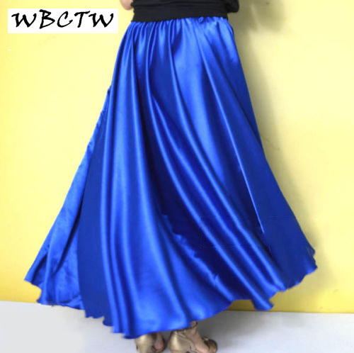 0b27ad4ba6 Full Circle Satin Skirt Long Skirts XXS-7XL Royal Blue Women Lady Satin Maxi  Skirts