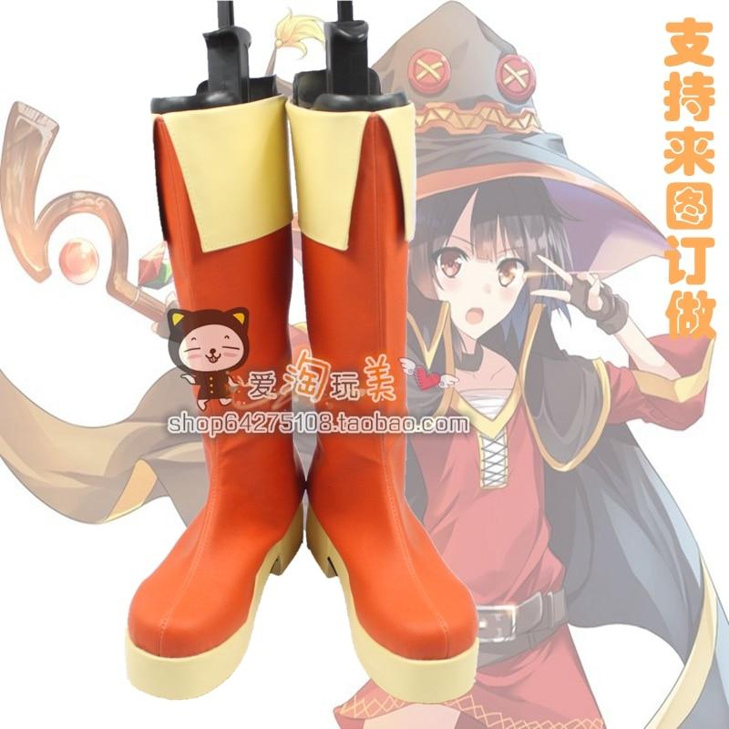 Kiznaiver Niyama Nico Megumin cosplay Shoes Boots Custom Made 2867